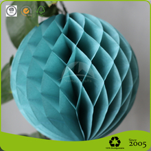 Lovely Tiffany Blue Honeycomb Paper Ball for Home Decoration
