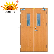 Residential fire save interior rated solid pvc wooden door price of fire proof rated doors