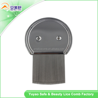 Durable Effective removal nit Stainless steel handle head lice comb flea comb