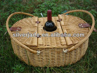 picnic wine willow baskets