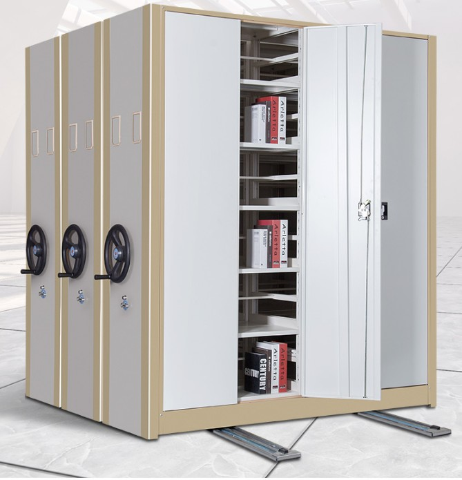 Metal Filing movable compact Steel Archives Mobile Shelving system