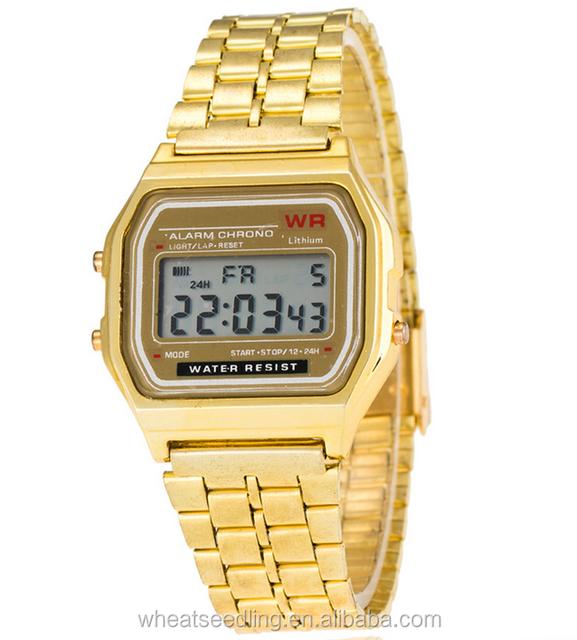 2016 fashion sport watches for boys steel belt LED cheap modern sport electronic watch