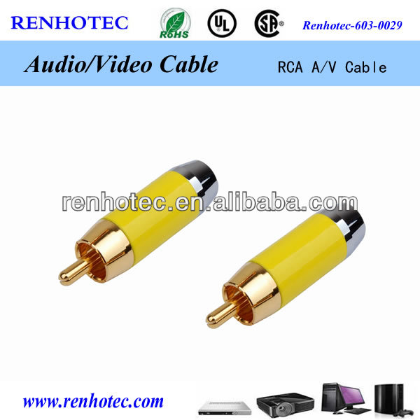 optical fiber cable with rca connector plug dock connector to 2 rca cable connector