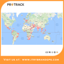 Standby Time smart vehicle tracking system ,gps tracker with one year with free google map tracking platform Protrack