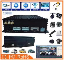 AHD 8 channel 4D11080P h 264 dvr firmware car dvr/mobile dvr/ MDVR support GPS+4G+WIFI