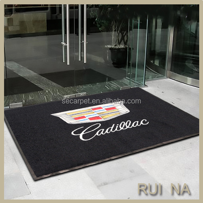 New Customer logo Anti-slip car Floor Mat with Rubber backing