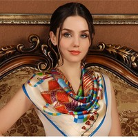 Wholesale New Style Silk Scarf Shawls Ladies Fashion 1pc MOQ Good Look