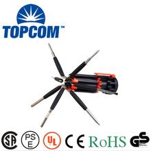 6 LED Torch Multi 8 In One Screwdriver With Magnetic Heads