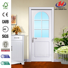 JHK-003 Frosted Oval Glass Metal Frame French Interior Door