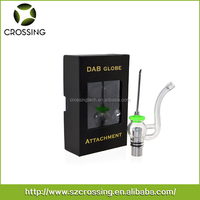2016 High quality e-cigarette 510 quartz rod coil dab dry herb globe glass wax vaporizer with silicone carb cap for sell