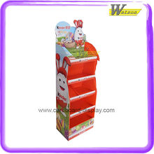 Custom Cardboard Chocolate Floor Display Stand for Kinder Bueno Chocolates or Other Chocolate Brands