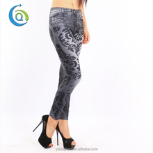 Quick Dry Print Women Sexy Jeans Tights
