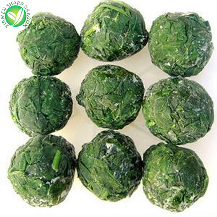 low price BQF frozen vegetable spinach ball