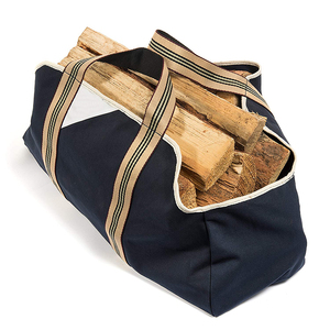 Collapsible Canvas Log Carrier Firewood Bag Wood Tote Bag