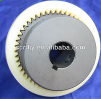 Bowex curved-tooth gear coupling