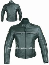 DL-1180 Jacket , Leather Motorcycle Jacket , Racing Leather Jacket