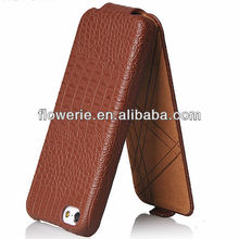 FL2456 2013 Guangzhou hot selling crocodile skin flip leather case with stand for iphone 5 c
