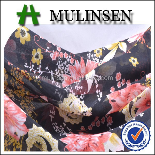 Shaoxing Mulinsen Textile hotsale fashion patterns printed chiffon fabric