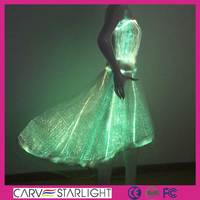 Wholesale fashion luminous led fabric beautiful wedding dress