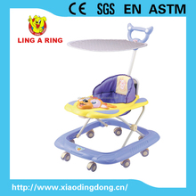 POPULAR FLASHING DEER FACE BABY WALKER WITH PUSHBAR AND CANOPY