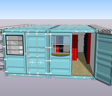 Modified modular shipping container store shopping mall