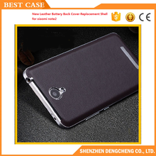 New Leather Battery Back Cover Replacement Shell for xiaomi note2