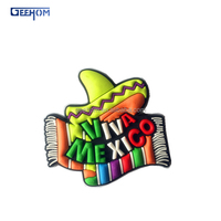 Mexician Souvenir magnet, custom 3d pvc rubber fridge magnet