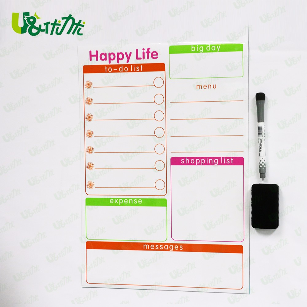 Magnetic Planner Weekly Multi-Purpose Magnet Board for Refrigerator Dry Erase Board Shopping List Memos
