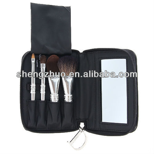 Makeup Brush Bag With Mirror
