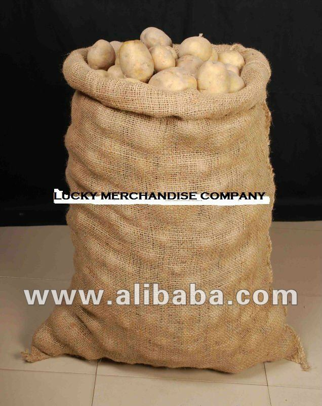 Jute bag for 50 kg potato packing