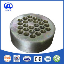 Prestressed round wedge plate