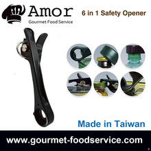 6 in 1 Manual Can Opener, Smooth Edge Side Safety Can Opener