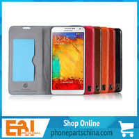 2014 new designed soft touch top quality real leather cheap price for Samsung s4 9500/s5/note 2/ note 3 cover