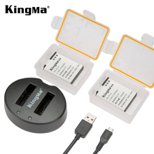 KingMa EN-EL12 Battery (2 Pack) And Ultra Slim Micro USB Charger For Nikon Coolpix AW100, AW110, AW100s, AW120 AW130, S9500