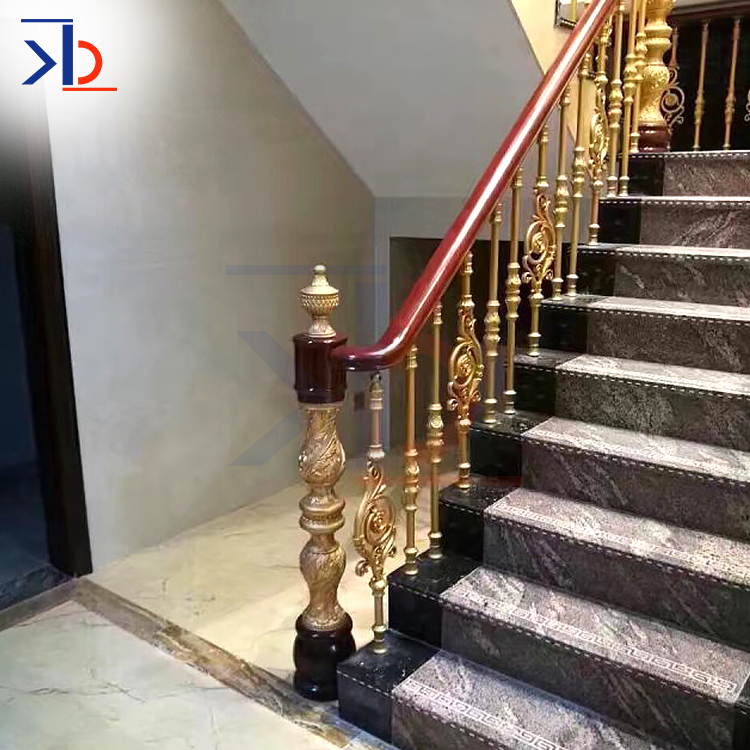 New Contemporary Metal Stair Handrail Suppliers Rose Gold 304/316 Stainless Steel Handrail/Balustrade/Stair Railing Post
