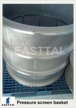 Electron beam perforated hole screen basket