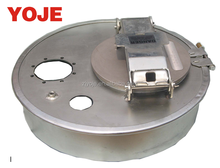 "tank truck 16"" steel manhole cover clamped round type"