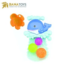 Free Shipping Best infant shower blue whale baby bath toy