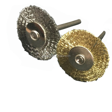 variety of materials Mini Round Shape Polishing Tool Stainless Steel End Brushes Brass Wire Brush