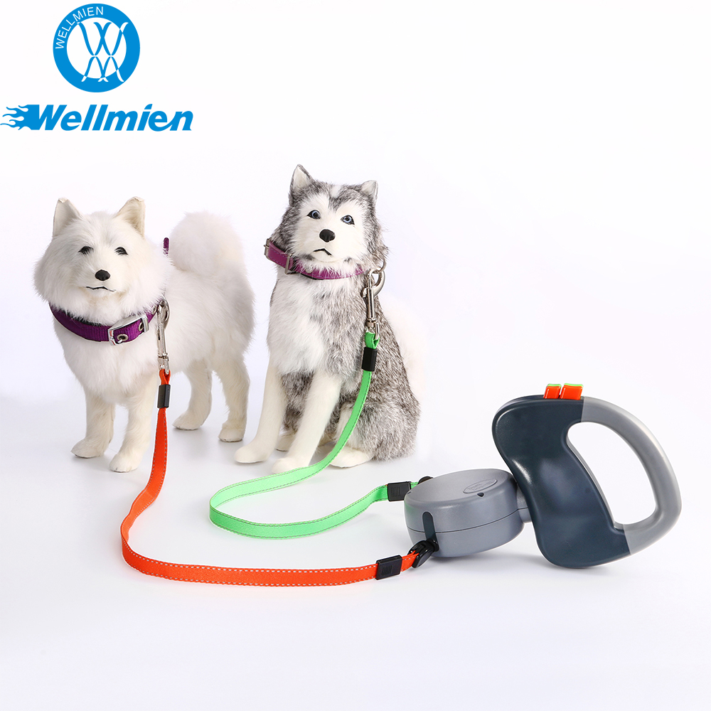 Two dogs one time Heavy Duty Retractable Dog Leash for 50 foot dogs