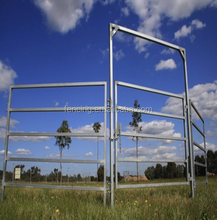 Wholesale 5 or 6 bars security used corral panels,house metal fence panels,galvanized cattle livestock panels