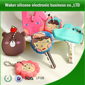 hot selling custom silicone keychain soft silicone rubber keychain silicone key chain