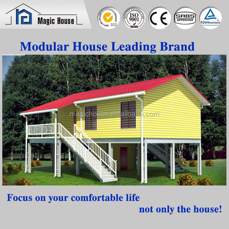 Cheap ready made wooden house 3D prefabricated home