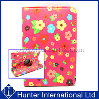 Printed Floral Garden Rotating Case For iPad Mini 4