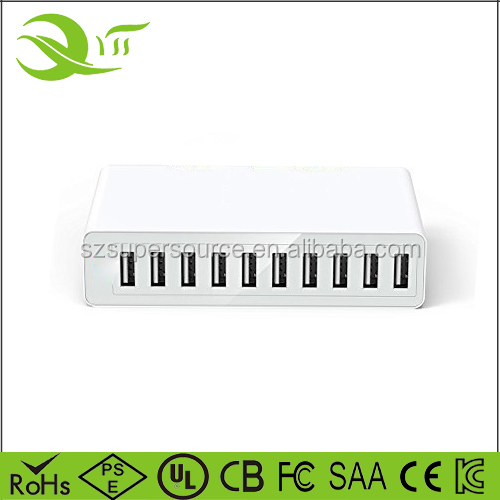 cellphone usb charger - CE FCC ROHS Approved ODM OEM quick charging universal multi port usb 10 port travel wall charger