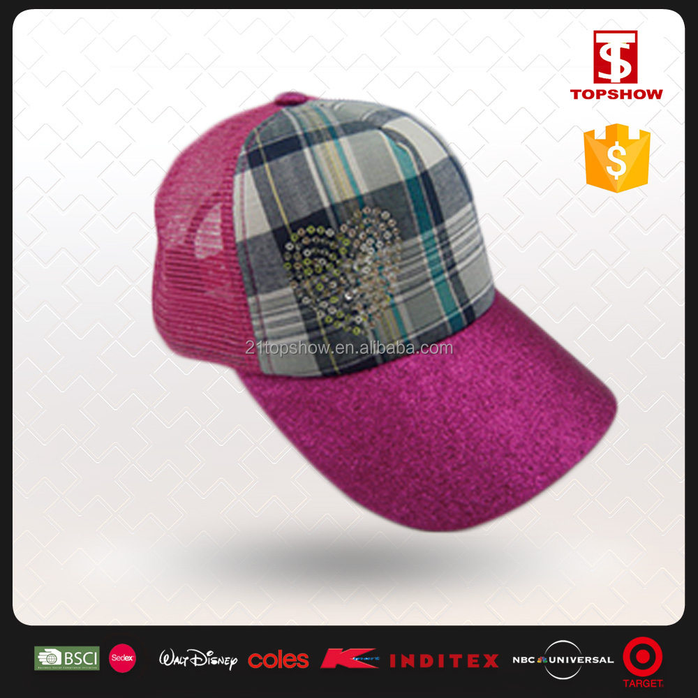 Promotional design 100% polyester mesh weaving cap