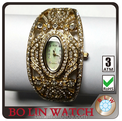 fashion square diamond watch latest design custom style watch natural gemstones china factory