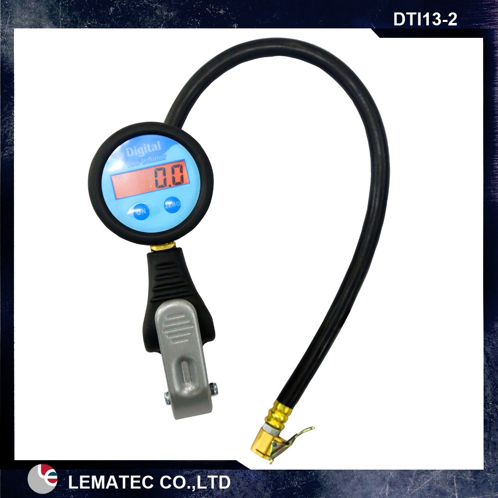 High Accuracy Tyre Pressure Gauge Dual Chuck Valves Digital Tire Inflator
