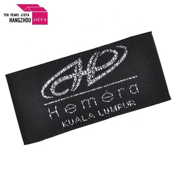Washable Branded Woven Label Trademark 100% Polyester Woven Label