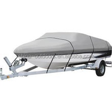 Deluxe 600D polyester oxford Boat Cover trailerable boat cover